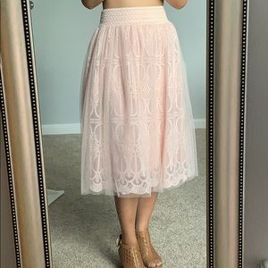 Lace midi skirt in size S
